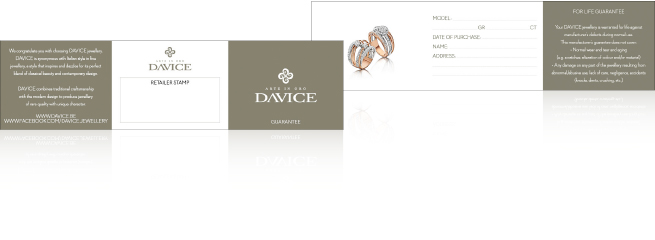 Davice Jewellery Guarantee